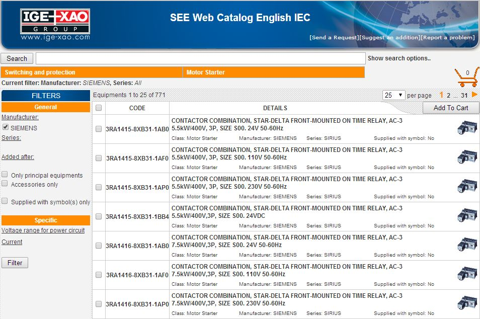 IGEXAO SEE Web Catalogue