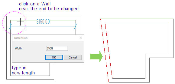 Change Length to single Wall