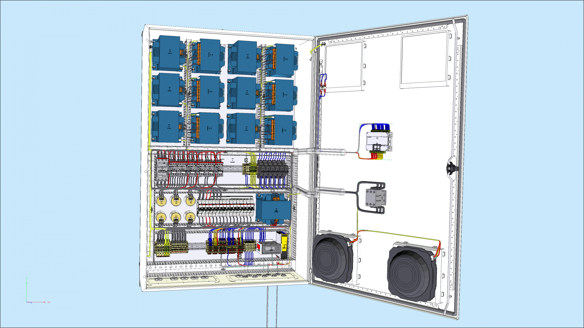 Screen shot of SEE Electrical 3d Panel+
