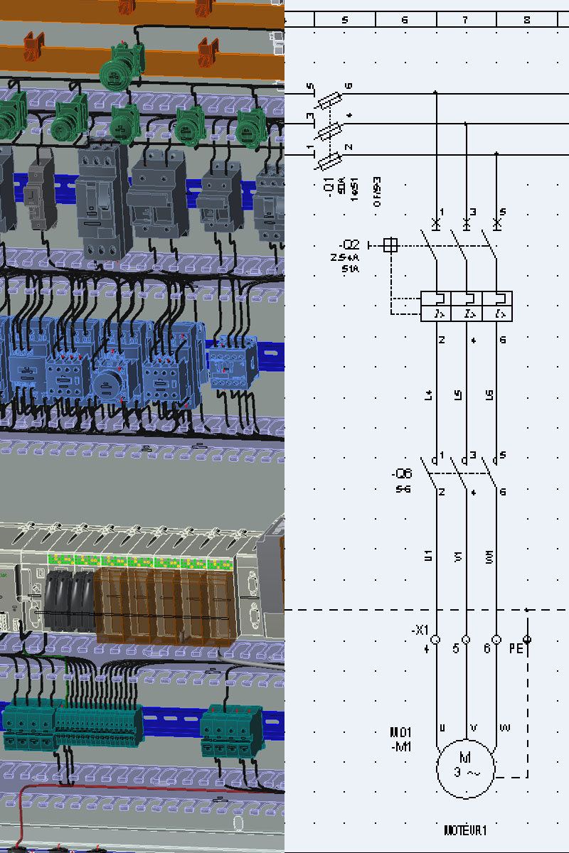 electrical design software packages from ige+xao provide powerful functions  dedicated to electrical engineering including complete libraries (symbols  and