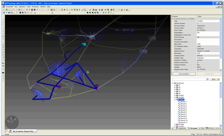 SEE Electrical PLM Topology 3D Harness Aircraft