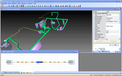 SEE Electrical PLM Topology 3D Harness